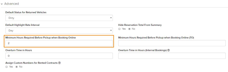 Minimum Hours Required