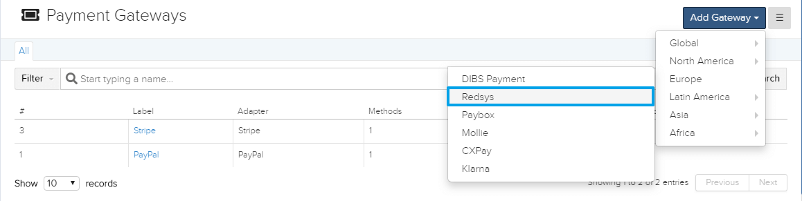 Redsys in HQ Payment Gateway